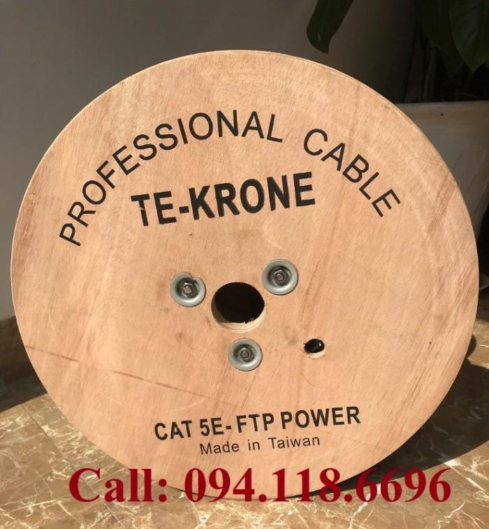 Cáp mạng liền nguồn Cat5E FTP chạy ngoài trời1