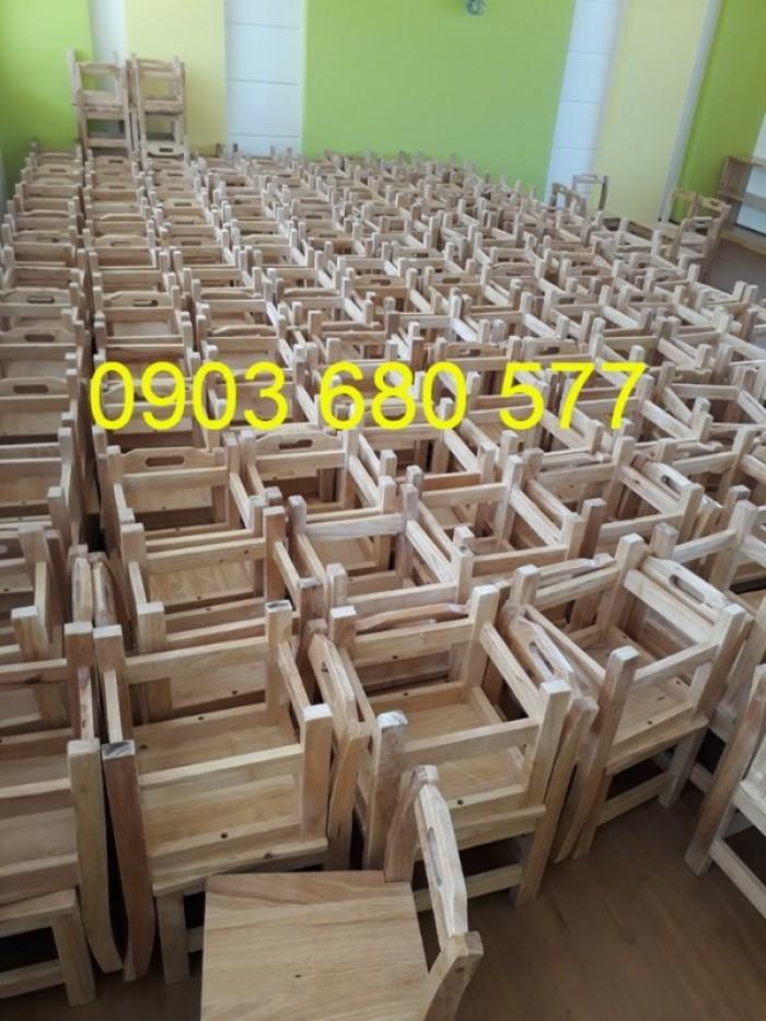 Chuyên bán bàn ghế gỗ mầm non giá rẻ, uy tín, chất lượng nhất20
