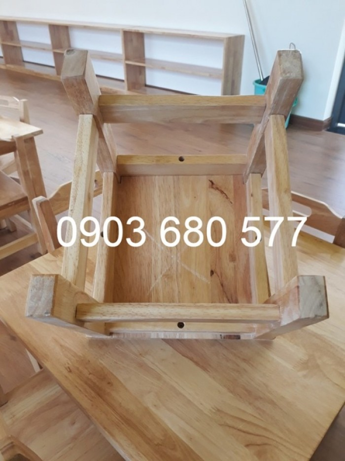 Chuyên bán bàn ghế gỗ mầm non giá rẻ, uy tín, chất lượng nhất16