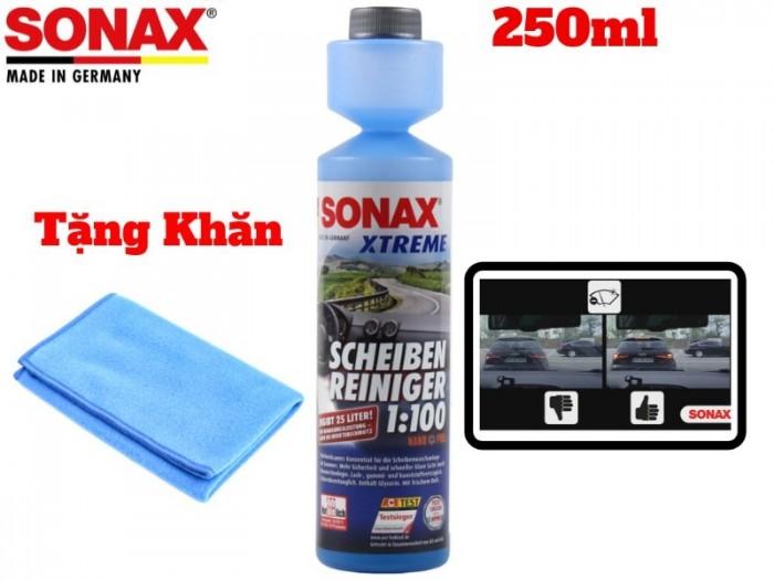 Nước Rửa Vệ Sinh Kính Lái Sonax Xtreme Clear View NanoPro 271141 250ml Tặng Khăn 4