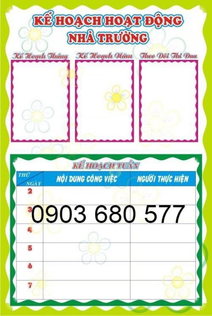 Chuyên cung cấp bảng biểu mầm non giá rẻ, chất lượng cao15