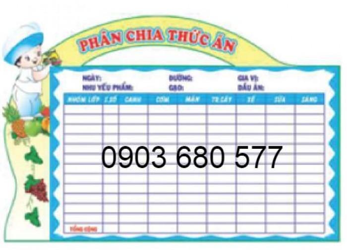 Chuyên cung cấp bảng biểu mầm non giá rẻ, chất lượng cao8