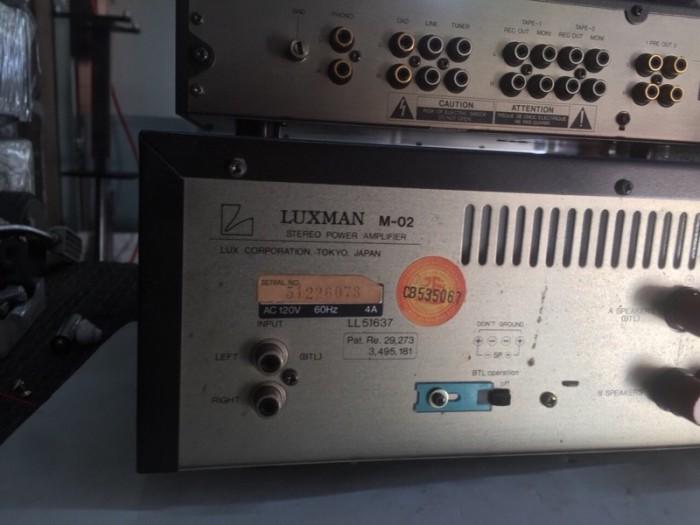 Chuyên Bán ampli Luxman PRE &POW  C2&M2 hàng tuyển về6