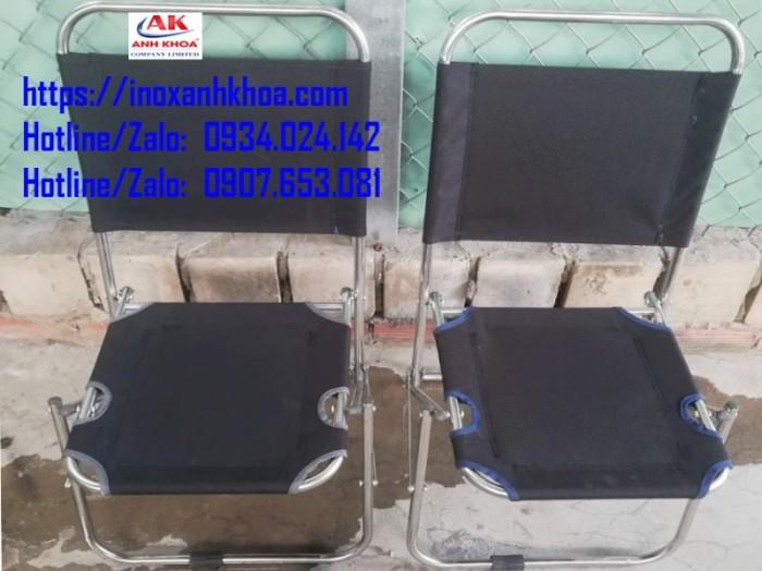 GHẾ XẾP LƯỚI INOX LOẠI MỘT MẢNH -  INOX ANH KHOA - Khung inox 6zem - Loại vải bố  cao cấp GIÁ: 125.000 Đ Liên hệ: 0934024142 - 0907653081