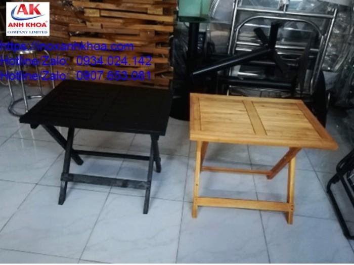 BÀN XẾP GỖ CHỮ NHẬT - INOX ANH KHOA - 0934024142 - Loại gỗ tràm cao cấp chống mối mọt - gấp gọn khi không sử dụng - Kích thước: 45*60*50 mm GIÁ: 175.000 Đ Liên hệ: 0934024142 - 0907653081