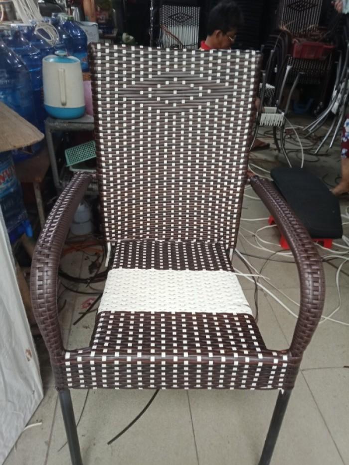Xả lô ghế nhựa giã mây nhiều màu..1