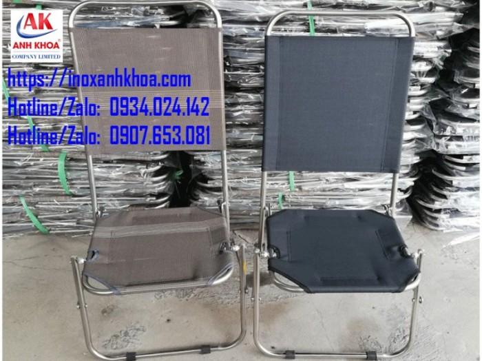 GHẾ XẾP LƯỚI INOX LƯNG CAO  Khung ghế dày 8zem, lưới dày textilen cao cấp nhất GÍA: 160.000 Đ Liên hệ: 0934024142 - 0907653081