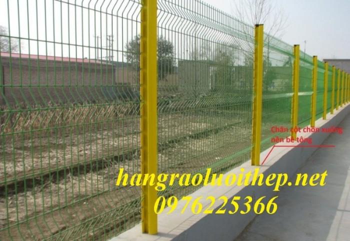 Hàng rào lưới thép, hàng rào mạ kẽm, sơn tĩnh điện3