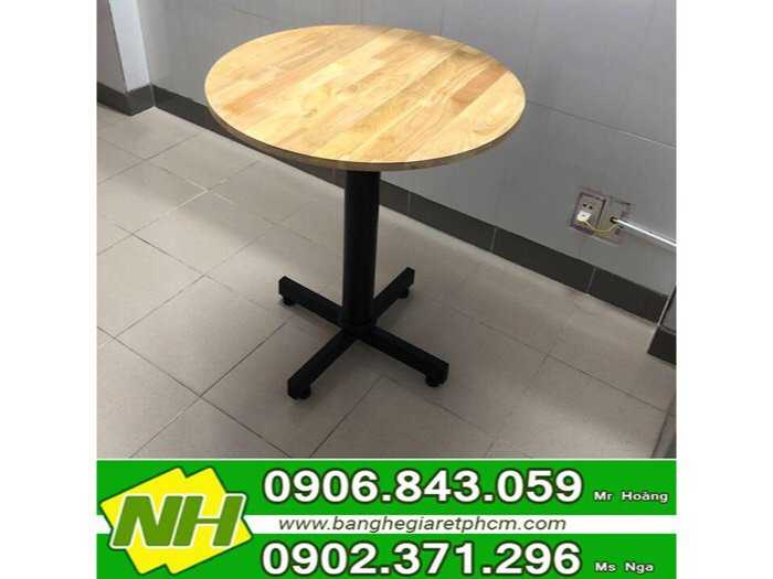 bàn chân trụ mặt gỗ0