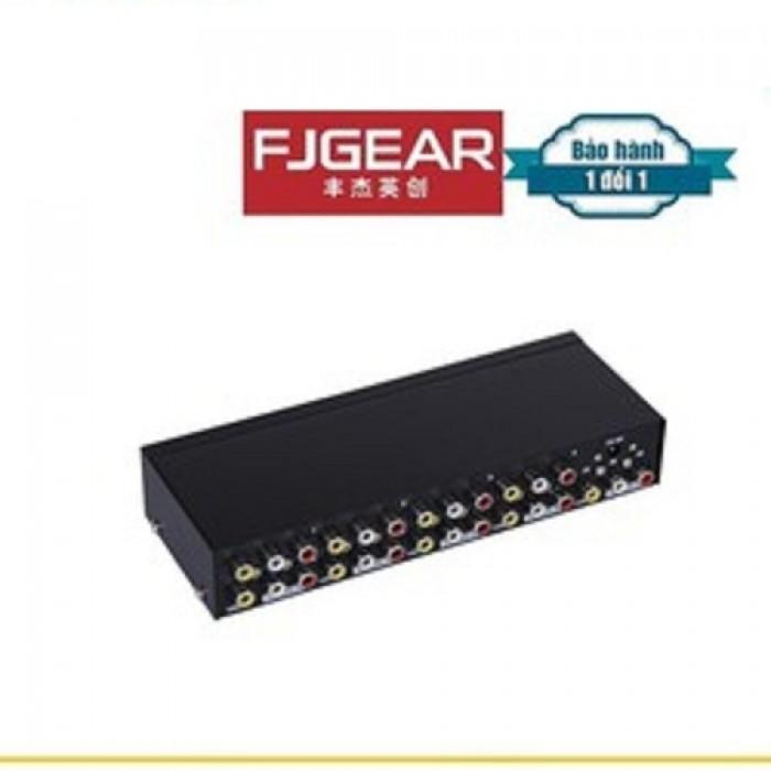 Bộ chia Audio & Video FJGear FJ-108AV  sử dụng cho Quán cafe, các phòng Karaoke, phòng học, hội họp2