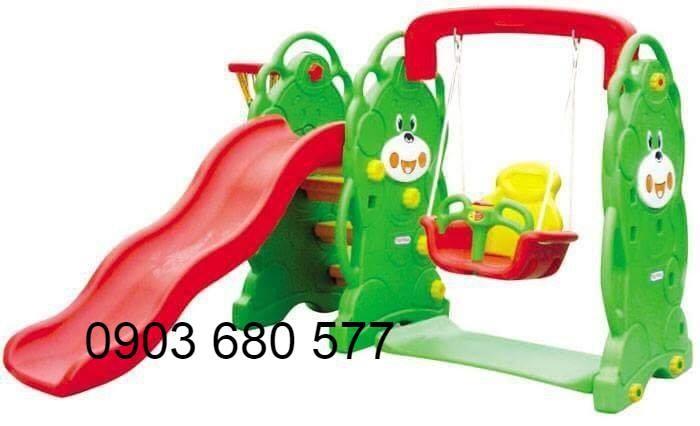 Cung cấp đồ chơi xích đu kèm cầu trượt cho trẻ em0