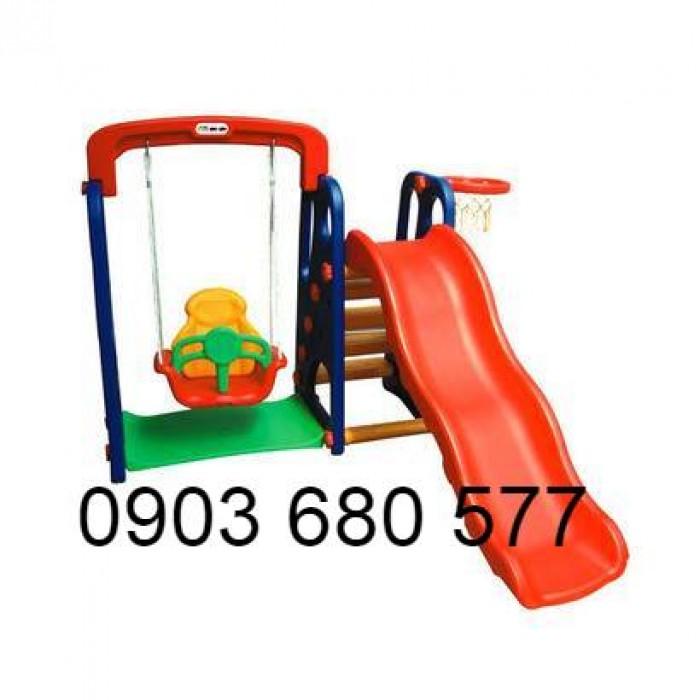 Cung cấp đồ chơi xích đu kèm cầu trượt cho trẻ em1