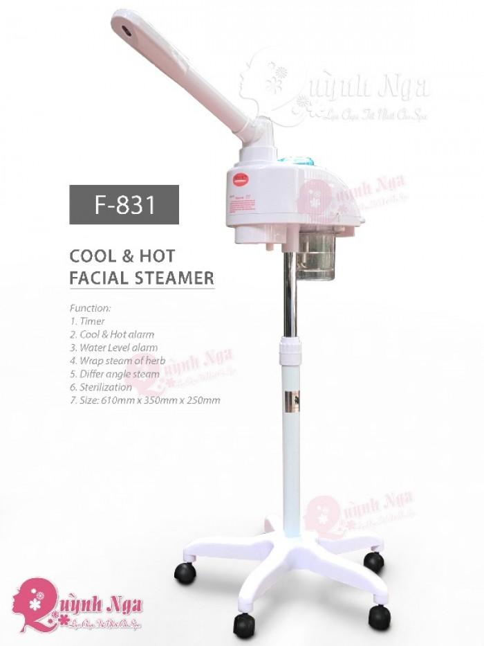 Máy Xông Hơi Mặt Chuyên Nghiệp, Máy Xông Hơi Mặt Và Hút Mụn, Máy Xông 1 Cần Nóng Lạnh F8313