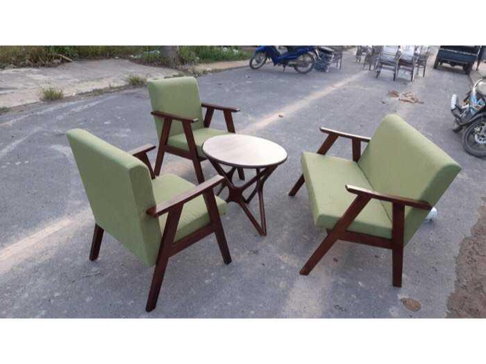 bộ bàn ghế sofa gỗ nệm0