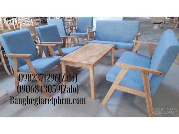 bộ bàn ghế sofa gỗ nệm1