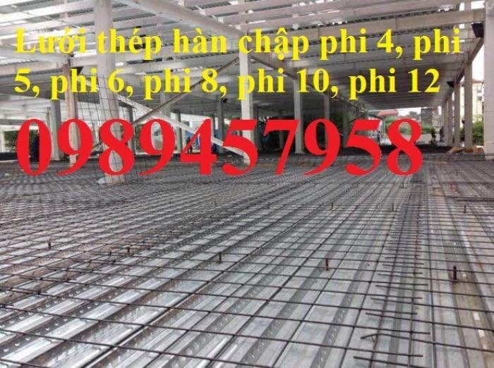 Lưới thép phi 6 ô 100x100, 150x150, 200x200, Lưới thép A6 200x200, D6 100x1006
