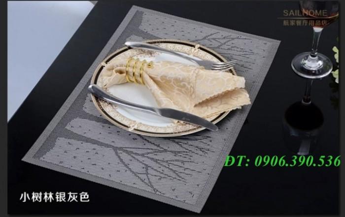 Tấm nhựa placemat hoa văn, trang trí bàn ăn đẹp, sang trọng0