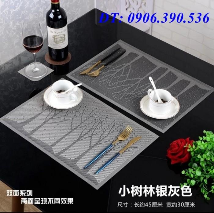 Tấm nhựa placemat hoa văn, trang trí bàn ăn đẹp, sang trọng1