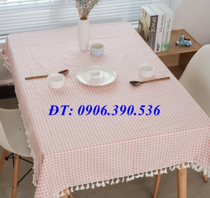 Khăn trải bàn ca rô đẹp, sang trọng5