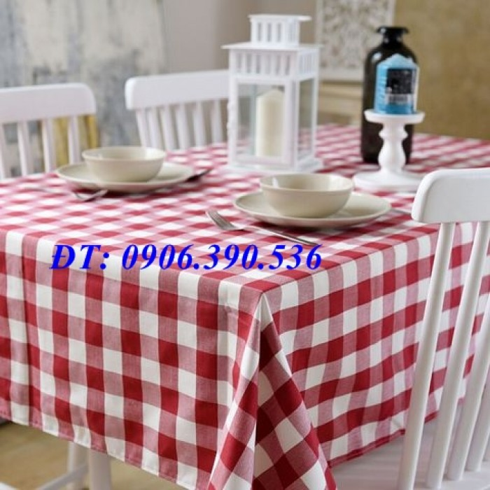Khăn trải bàn ca rô đẹp, sang trọng17
