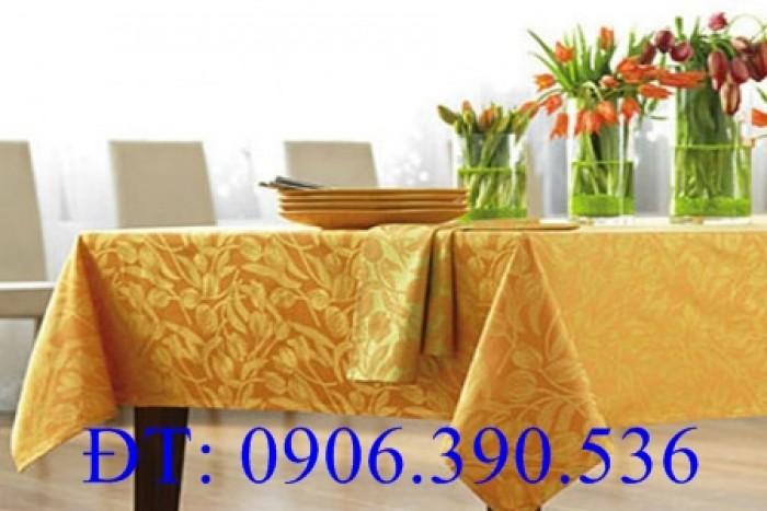 Khăn trải bàn gấm hoa văn sang trọng2