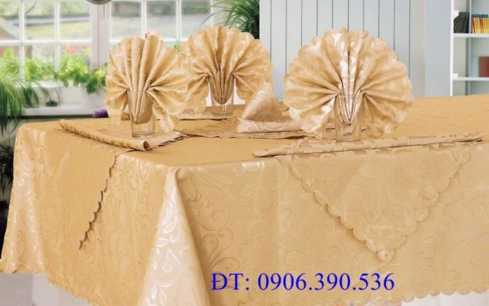 Khăn trải bàn gấm hoa văn sang trọng6