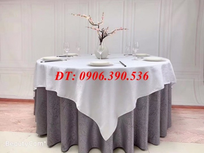 Khăn trải bàn gấm hoa văn sang trọng8