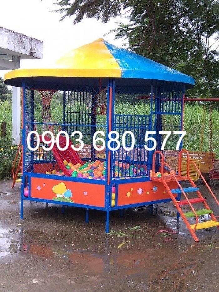 Bán nhà banh trong nhà và ngoài trời cho trẻ em giá rẻ, chất lượng cao15