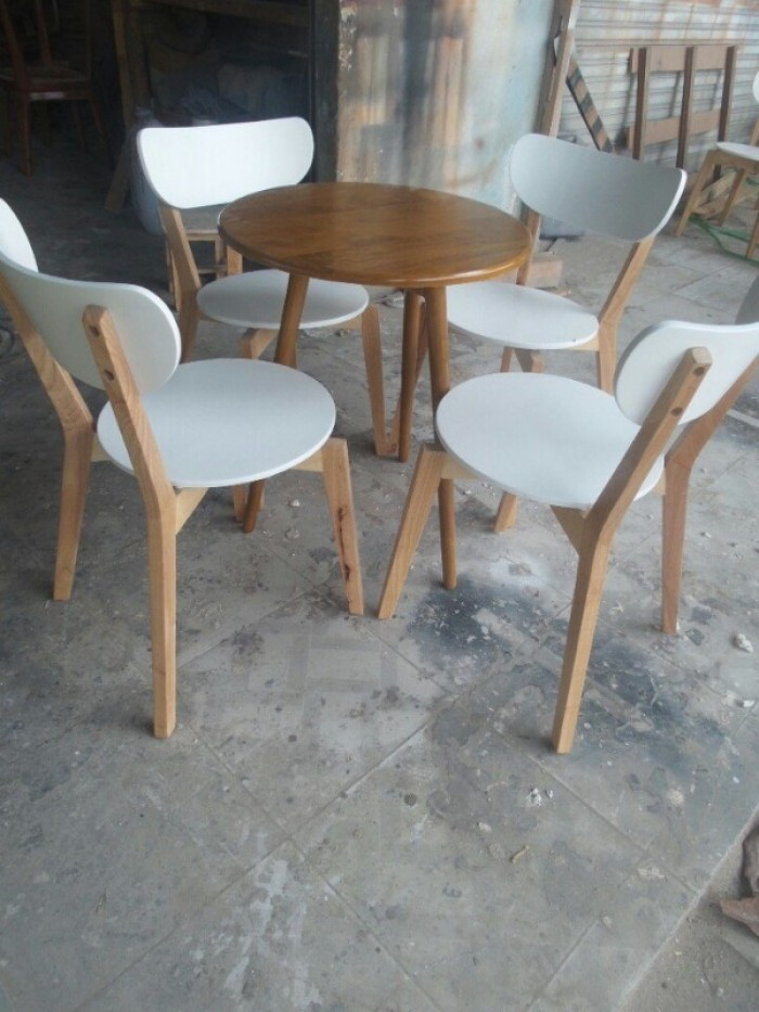 Bộ bàn ghế mặt tròn5