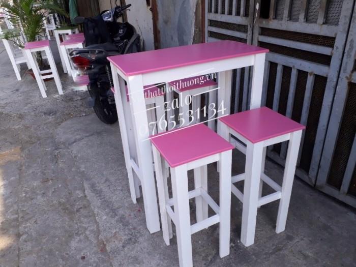 Bàn ghế trà sữa đẹp TS 061