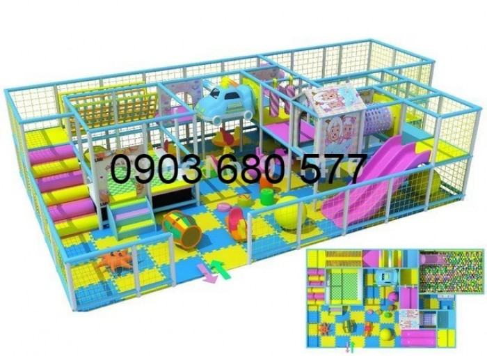 Chuyên nhận thi công khu vui chơi trẻ em trong nhà và ngoài trời12