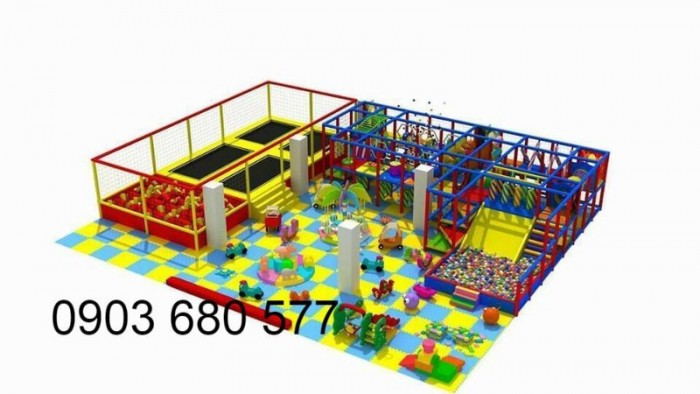 Chuyên nhận thi công khu vui chơi trẻ em trong nhà và ngoài trời15
