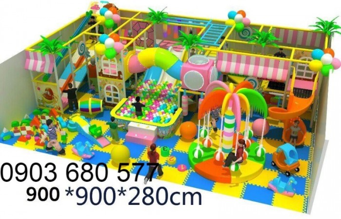 Chuyên nhận thi công khu vui chơi trẻ em trong nhà và ngoài trời20