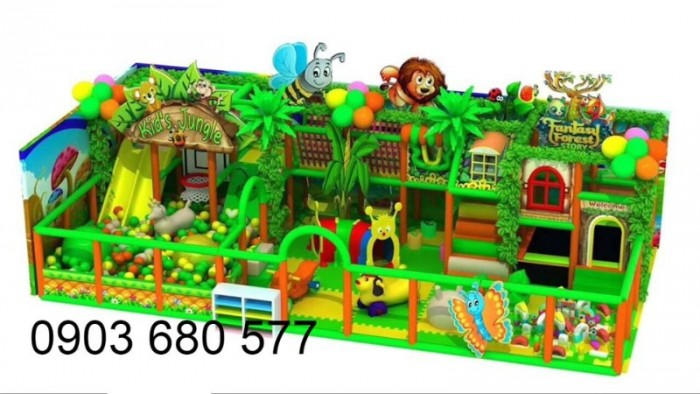 Chuyên nhận thi công khu vui chơi trẻ em trong nhà và ngoài trời14