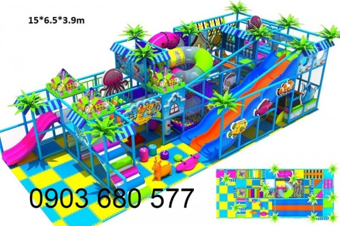 Chuyên nhận thi công khu vui chơi trẻ em trong nhà và ngoài trời23