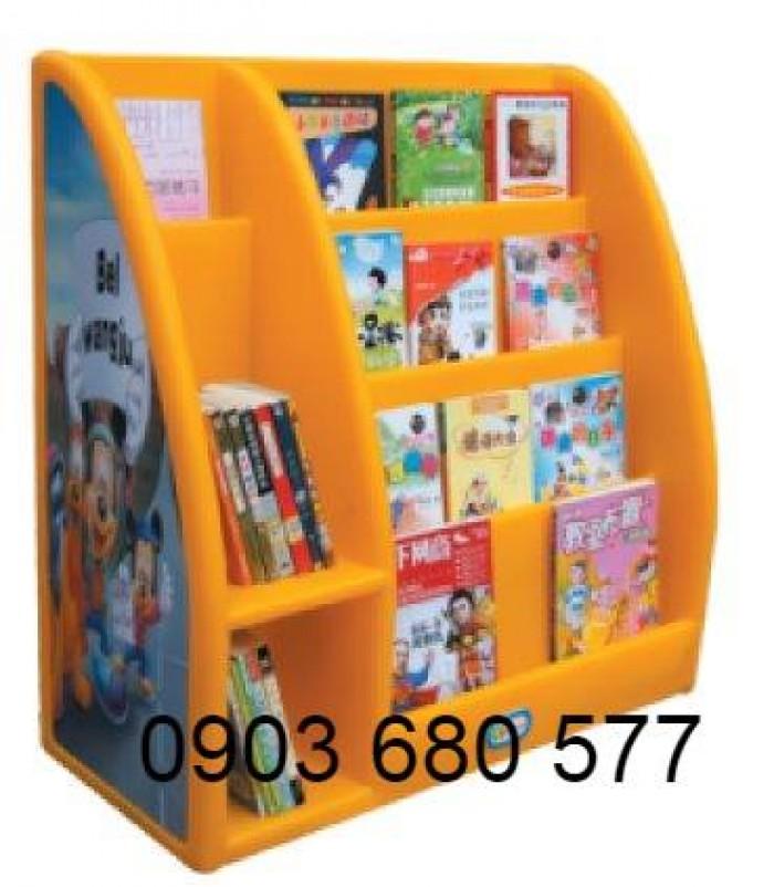 Chuyên bán kệ nhựa để đồ chơi trẻ em cho trường mầm non, lớp mẫu giáo4