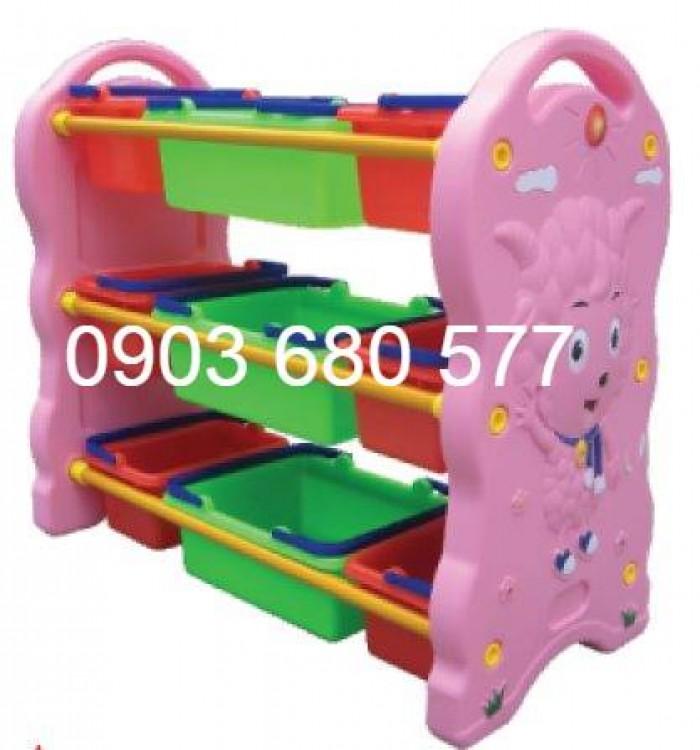 Chuyên bán kệ nhựa để đồ chơi trẻ em cho trường mầm non, lớp mẫu giáo12