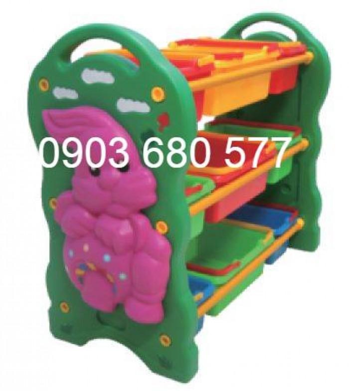 Chuyên bán kệ nhựa để đồ chơi trẻ em cho trường mầm non, lớp mẫu giáo9