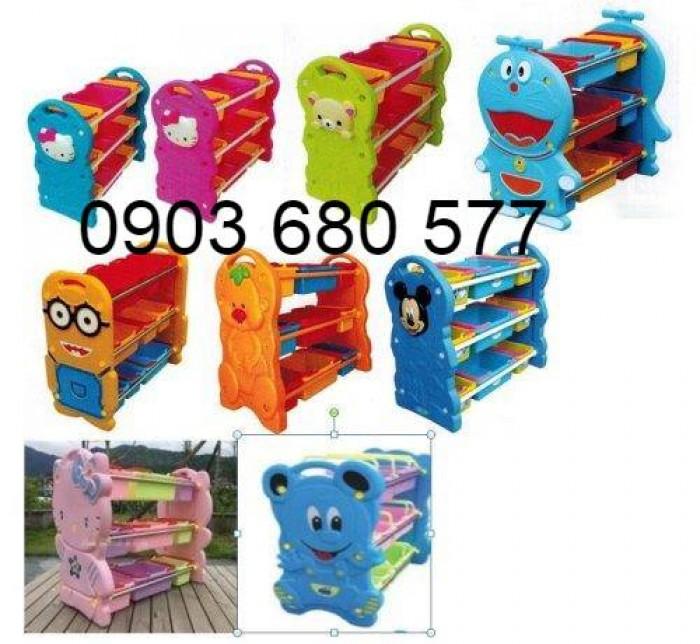 Chuyên bán kệ nhựa để đồ chơi trẻ em cho trường mầm non, lớp mẫu giáo3