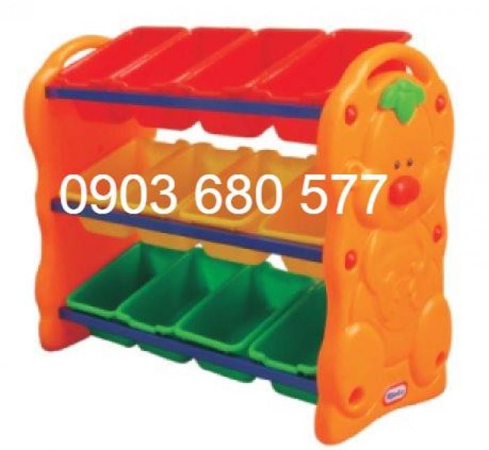 Chuyên bán kệ nhựa để đồ chơi trẻ em cho trường mầm non, lớp mẫu giáo2