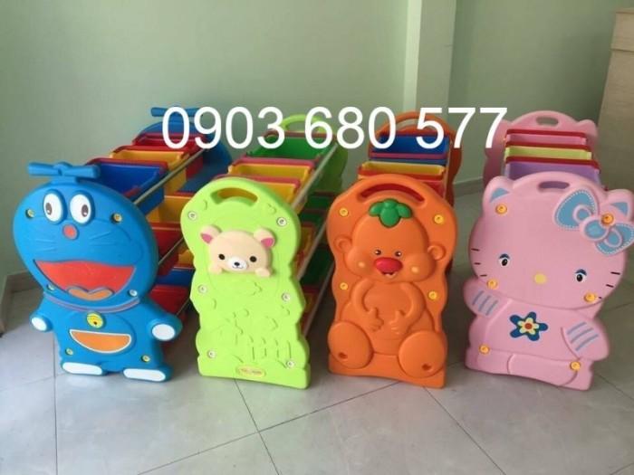 Chuyên bán kệ nhựa để đồ chơi trẻ em cho trường mầm non, lớp mẫu giáo8