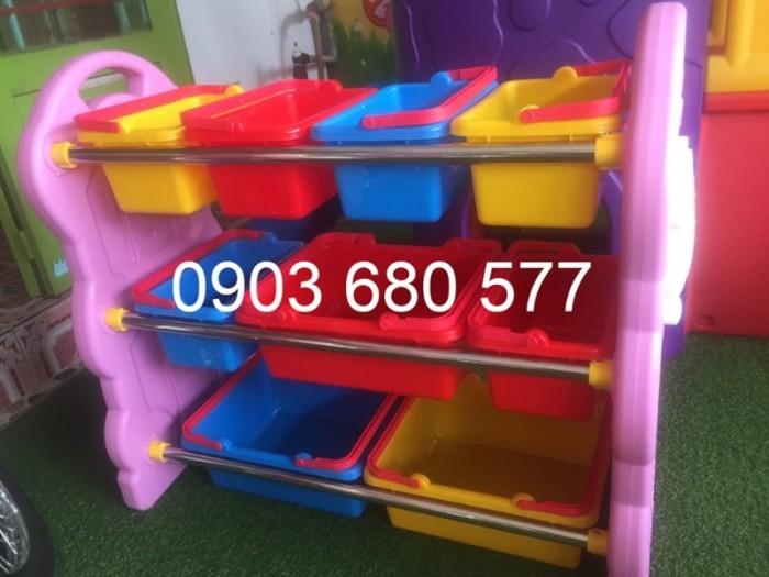 Chuyên bán kệ nhựa để đồ chơi trẻ em cho trường mầm non, lớp mẫu giáo5