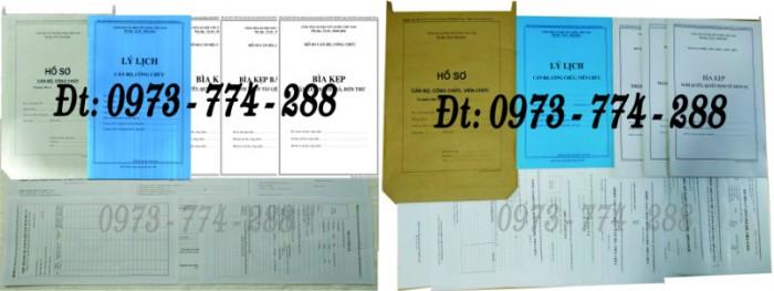 Bộ hồ sơ cán bộ công chức có mẫu b01, b02, b03, b04, b05, b06, hs09-VC/BNV giá rẻ, mẫu chuẩn mới nhất0
