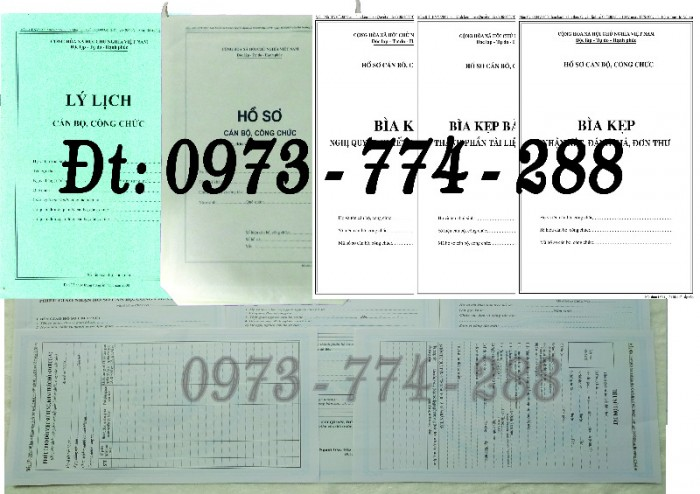 Bộ hồ sơ cán bộ công chức có mẫu b01, b02, b03, b04, b05, b06, hs09-VC/BNV giá rẻ, mẫu chuẩn mới nhất1