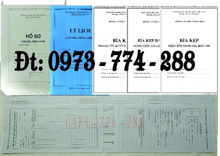 Bộ hồ sơ cán bộ công chức có mẫu b01, b02, b03, b04, b05, b06, hs09-VC/BNV giá rẻ, mẫu chuẩn mới nhất2