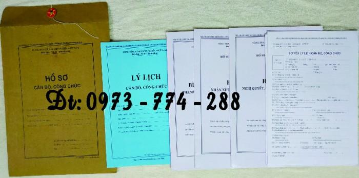 Bộ hồ sơ cán bộ công chức có mẫu b01, b02, b03, b04, b05, b06, hs09-VC/BNV giá rẻ, mẫu chuẩn mới nhất3