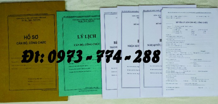 Bộ hồ sơ cán bộ công chức có mẫu b01, b02, b03, b04, b05, b06, hs09-VC/BNV giá rẻ, mẫu chuẩn mới nhất4