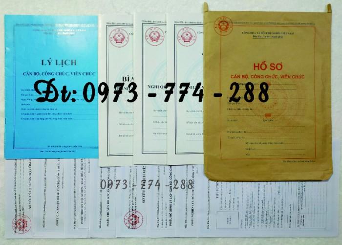 Bộ hồ sơ cán bộ công chức có mẫu b01, b02, b03, b04, b05, b06, hs09-VC/BNV giá rẻ, mẫu chuẩn mới nhất7