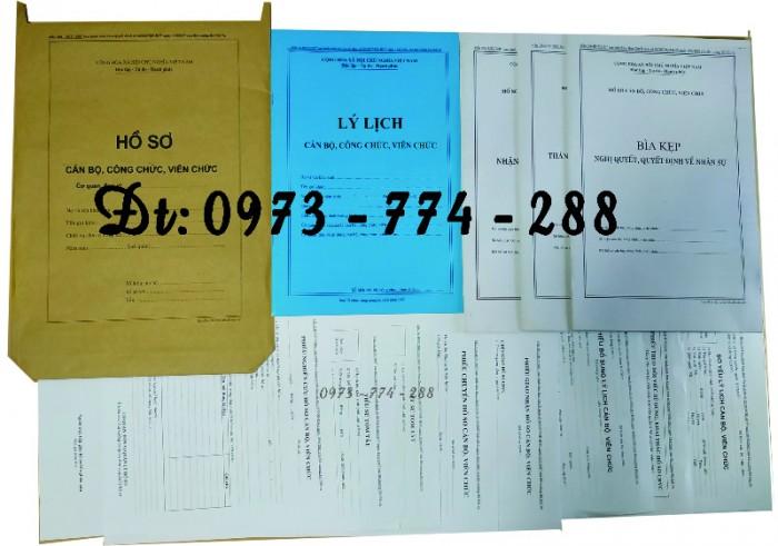 Bộ hồ sơ cán bộ công chức có mẫu b01, b02, b03, b04, b05, b06, hs09-VC/BNV giá rẻ, mẫu chuẩn mới nhất8
