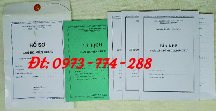 Bộ hồ sơ cán bộ công chức có mẫu b01, b02, b03, b04, b05, b06, hs09-VC/BNV giá rẻ, mẫu chuẩn mới nhất9